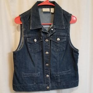 Rhinestone denim bling vest